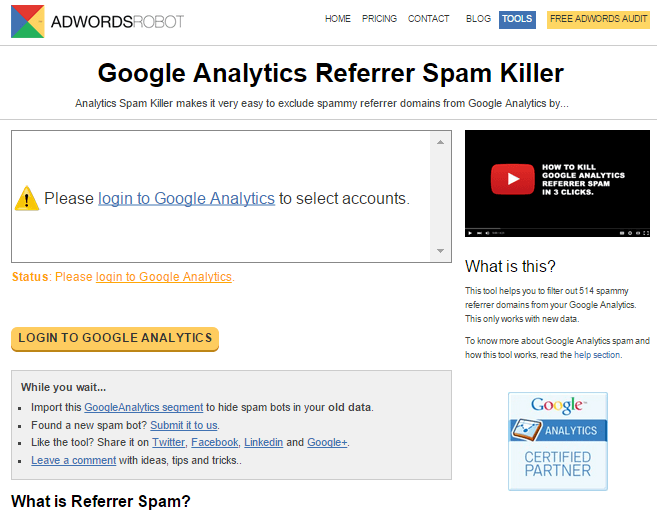 spam killer google